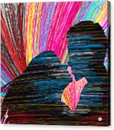 Lovers In Colour No.1 Acrylic Print by Kenal Louis
