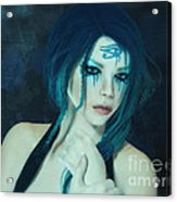 Loving Blue Hair Acrylic Print