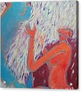 Loving My Angel Acrylic Print by Ana Maria Edulescu
