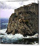 Lovrijenac Tower In Dubrovnik Acrylic Print
