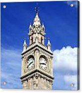 Low Angle View Of A Clock Tower, Albert Acrylic Print