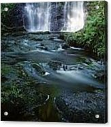 Low Angle View Of A Waterfall Acrylic Print