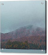 Low Clouds Over Blue Mountain Lake Acrylic Print
