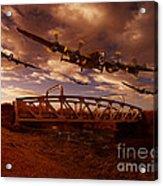 Low Flying Over Rawcliffe Bridge Acrylic Print by Nigel Hatton