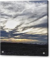Low Hanging Clouds At Sunset Acrylic Print