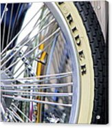 Low Rider And Silver Spokes Acrylic Print