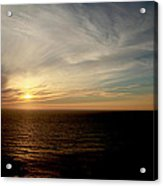 Low Sun Over The Pacific Acrylic Print