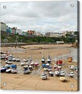 Low Tide At Tenby Acrylic Print