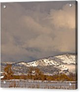 Low Winter Storm Clouds Colorado Rocky Mountain Foothills 2 Acrylic Print