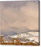 Low Winter Storm Clouds Colorado Rocky Mountain Foothills 4 Acrylic Print
