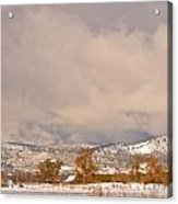 Low Winter Storm Clouds Colorado Rocky Mountain Foothills 5 Acrylic Print