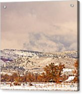 Low Winter Storm Clouds Colorado Rocky Mountain Foothills 6 Acrylic Print
