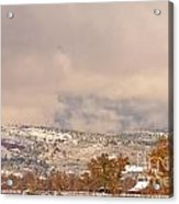 Low Winter Storm Clouds Colorado Rocky Mountain Foothills 7 Acrylic Print