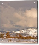 Low Winter Storm Clouds Colorado Rocky Mountain Foothills Acrylic Print