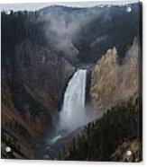 Lower Falls At Yellowstone Acrylic Print