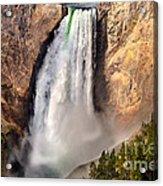 Lower Falls Of Yellowstone Acrylic Print