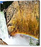 Lower Falls Rainbow Le Acrylic Print