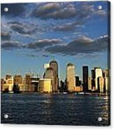 Lower Manhattan At Sunset, Viewed From Acrylic Print