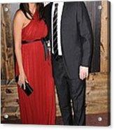 Luciana Barroso, Matt Damon At Arrivals Acrylic Print by Everett