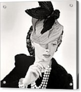 Lucille Ball Models A Unique Hat Acrylic Print by Everett