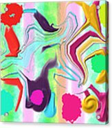 Ludere Acrylic Print by Rosana Ortiz