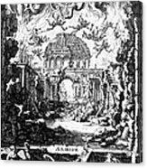 Lully: Armide, 1686 Acrylic Print