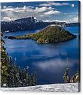 Luminous Crater Lake Acrylic Print
