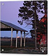 Lunar Eclipse At The Farm Acrylic Print