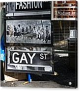 Lunch Time Between Fashion Ave And Gay Street Acrylic Print by Rob Hans