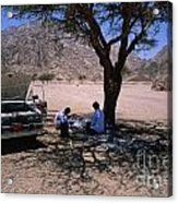 Lunchtime In The Desert Of Sinai Acrylic Print