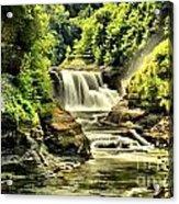 Lush Lower Falls Acrylic Print