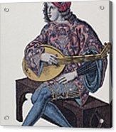 Lute Player, 1839 Acrylic Print by Granger
