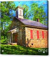 Lutz-franklin Schoolhouse Acrylic Print by Paul Ward