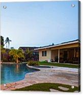 Luxury Backyard Pool And Lanai Acrylic Print