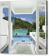 Luxury Bathroom  Acrylic Print by Setsiri Silapasuwanchai