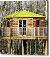 Luxury Tree House In The Woods Acrylic Print