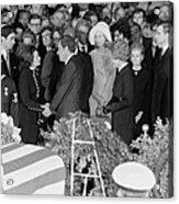 Lyndon Johnson Funeral. President Nixon Acrylic Print by Everett