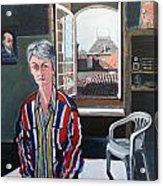Lynne In My Studio Acrylic Print