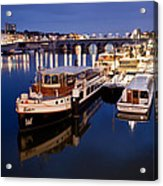 Maastricht Jetty On Maas River Acrylic Print