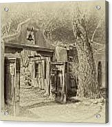 Mabel's Gate As Antique Print Acrylic Print