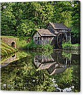 Mabry Mill And Pond With Reflection Acrylic Print