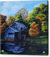Mabry Mill In Autumn Acrylic Print