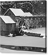 Mabry Mill In Black And White Acrylic Print by Joe Elliott