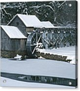 Mabry Mill Winter Acrylic Print