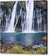 Macarthur-burney Falls Panorama Acrylic Print