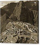 Machu Picchu Sepia Acrylic Print