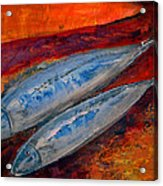 Mackerels In The Sunset Acrylic Print by Aquira Kusume