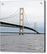 Mackinac Bridge From Water 2 Acrylic Print
