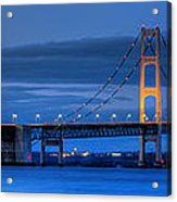 Mackinac Bridge In Evening Acrylic Print