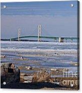 Mackinac Bridge Southwest Acrylic Print